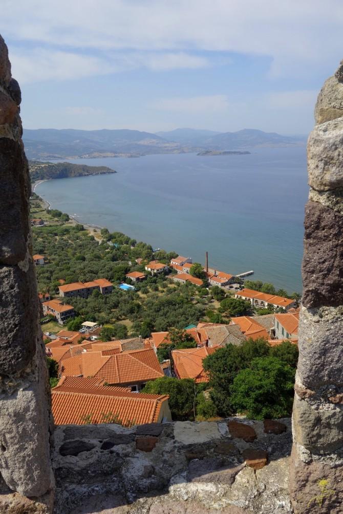 Widok z zamku w Molivos