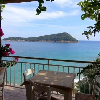 tawerna Agorastos z najlepszymi owocami morza jakie jedliśmy na wyspie