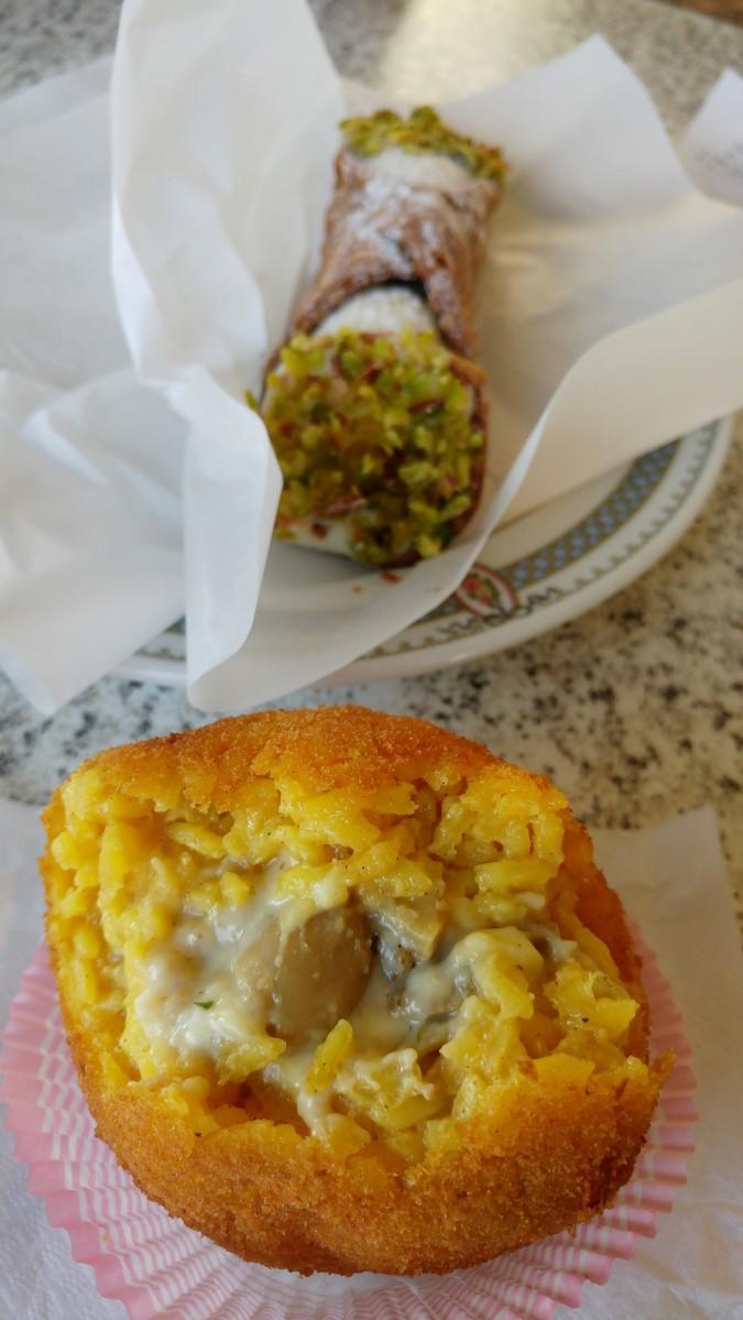 zestaw obiadowy - arancini plus cannolo