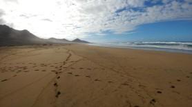 plaża Cofete patrząc w lewo