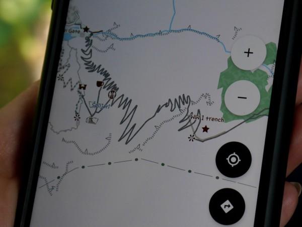 mapa trasa cetinje- kotor